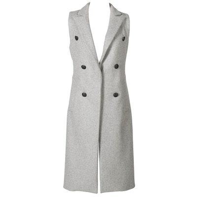 Rag & Bone Long Grey Wool Vest