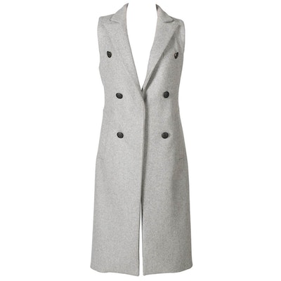 Rag & Bone Long Grey Wool Vest