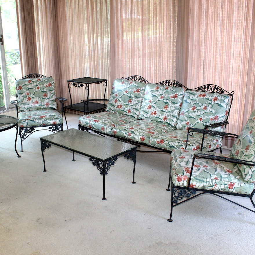 vintage woodard wrought iron patio furniture : ebth