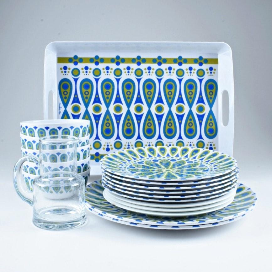 Jonathan Adler  Happy Home  Melamine Dinnerware Set ...  sc 1 st  EBTH.com & Jonathan Adler
