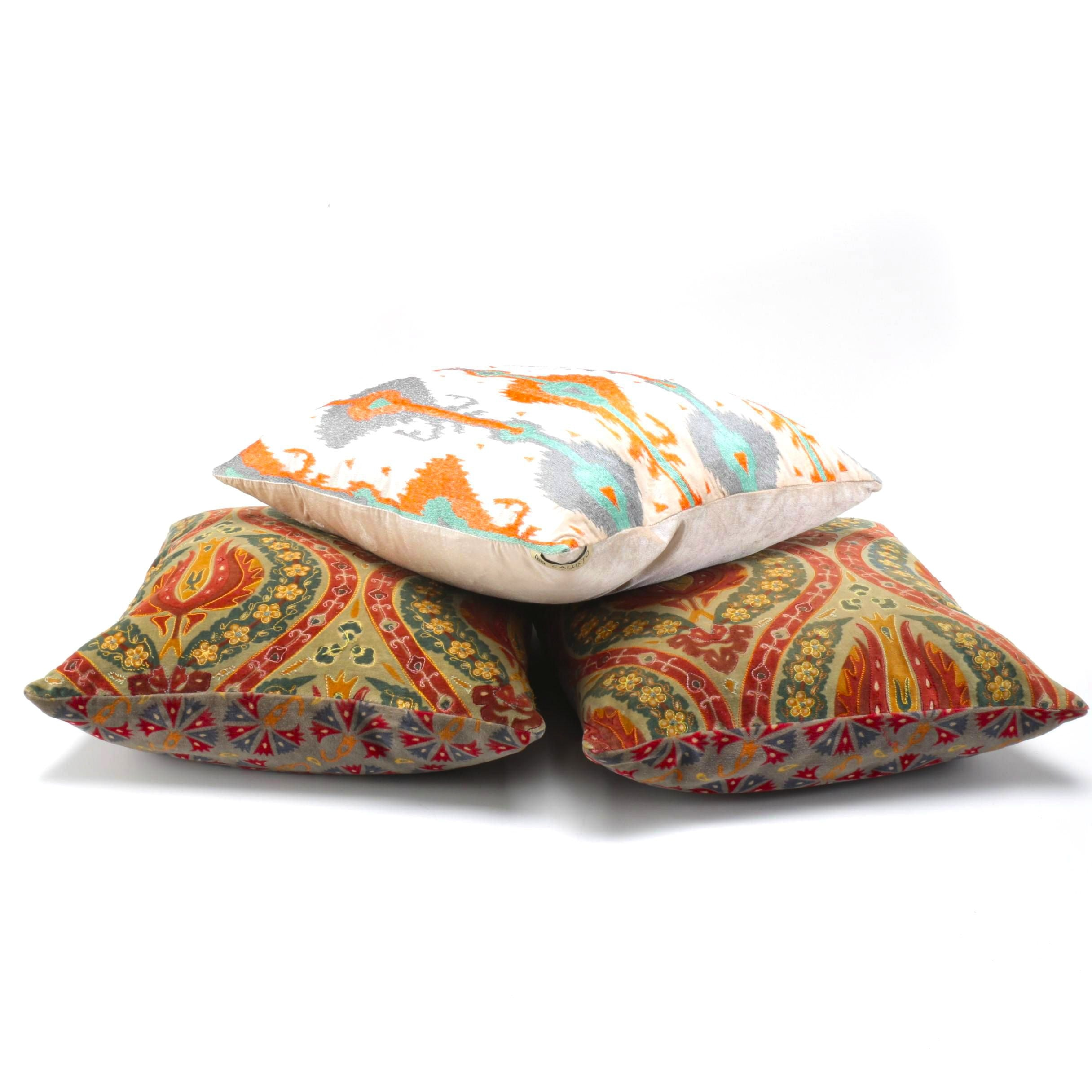 Trio of Decorative Throw Pillows
