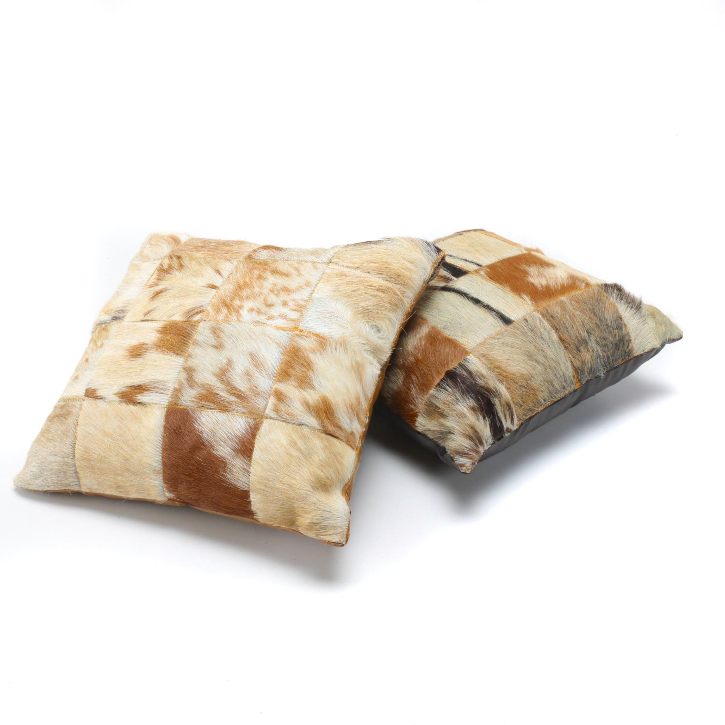 Pair of Cow Motif Pillows