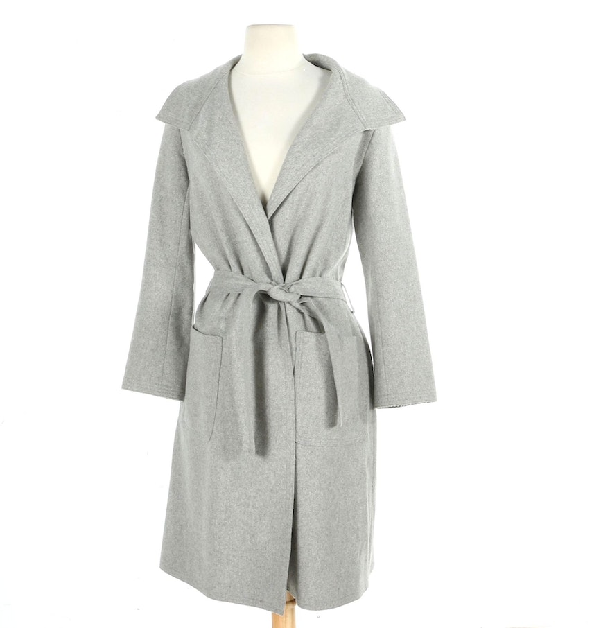 Miniyu Grey Wool and Cashmere Wrap Coat : EBTH