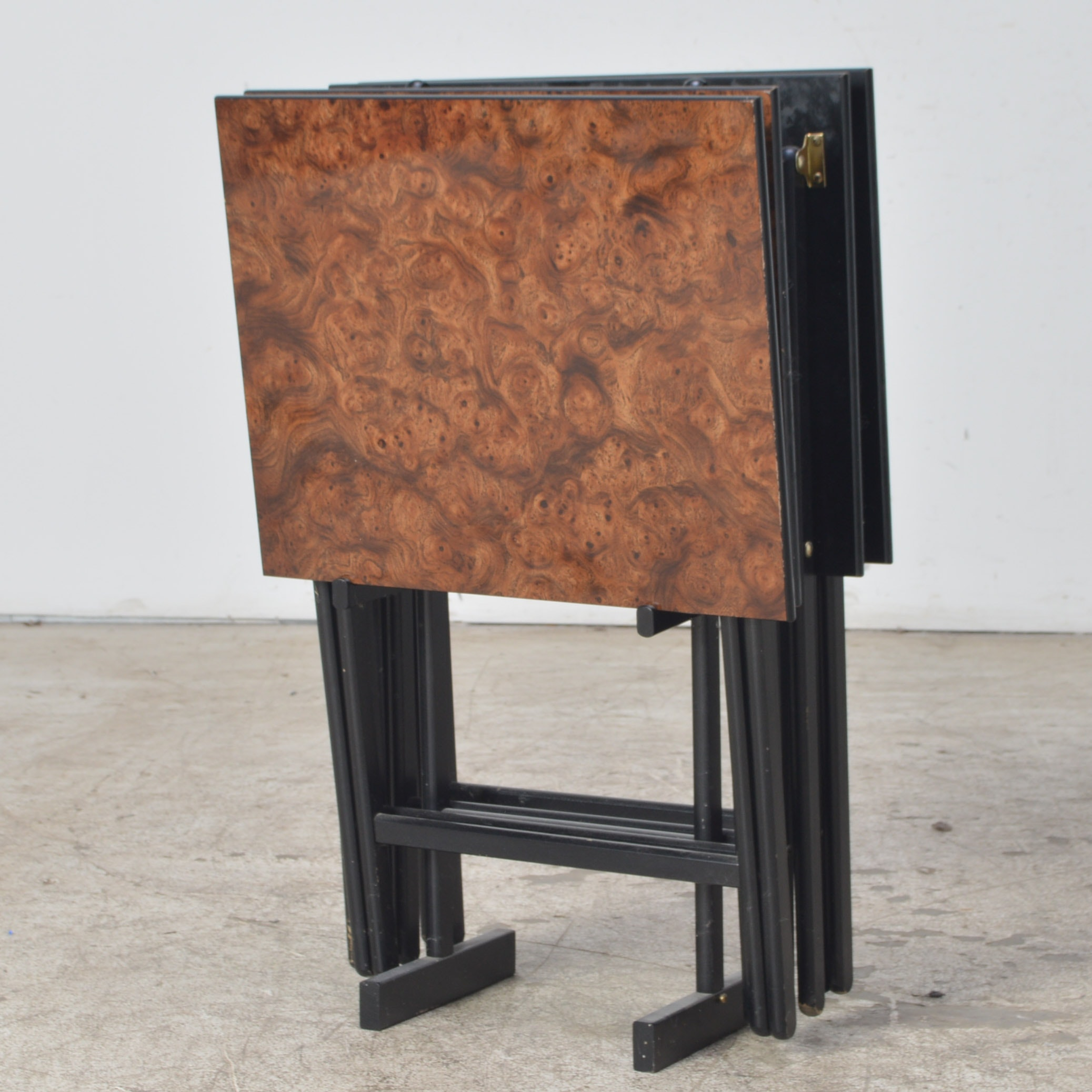Vintage TV Tray Table Set by Scheibe EBTH