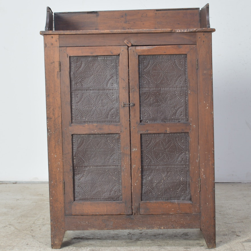 Antique Primitive Pie Safe ... - Antique Primitive Pie Safe : EBTH