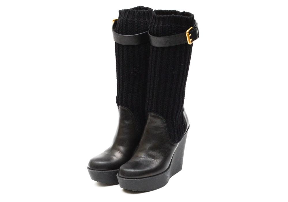 Gucci Women's Lockhart Platform Wedge Boots
