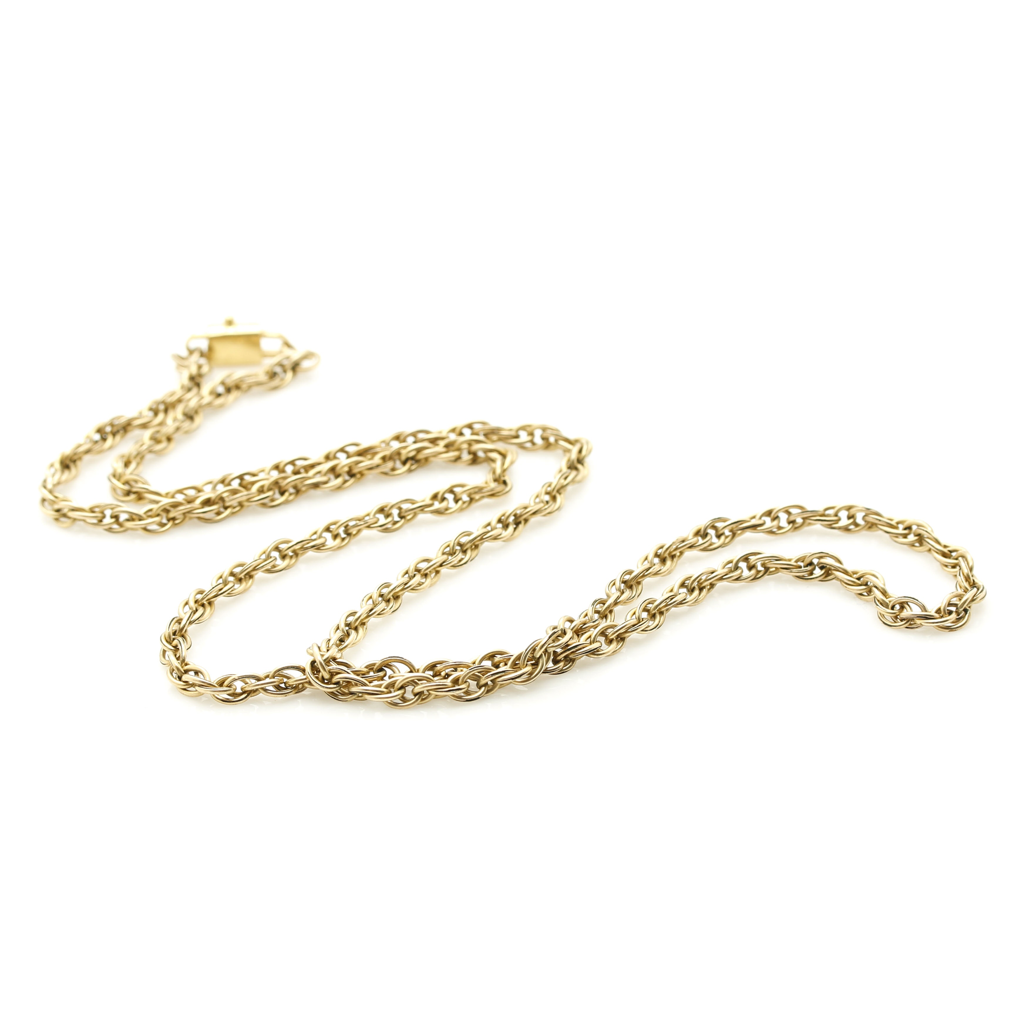 Chimento 18K Yellow Gold Clasp on Gold Plated Chain
