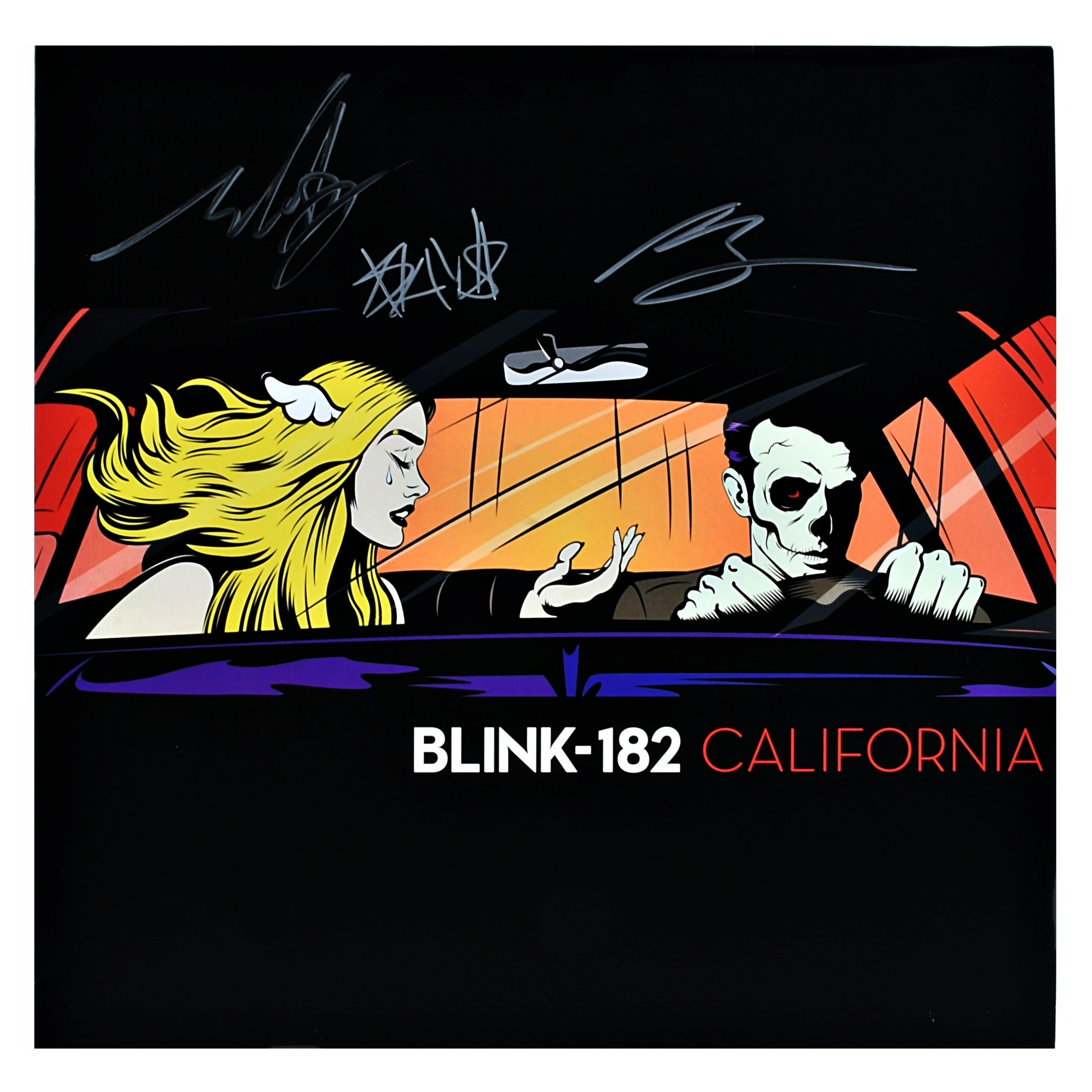 Autographed blink-182 Album, Hoodie, Buttons and Wristband