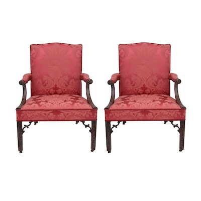 Pair of Antique George III Period  Library Chairs, c. 1765