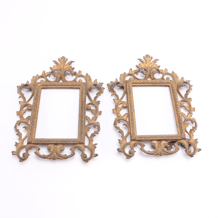 Gold Painted Metal Picture Frames Ebth