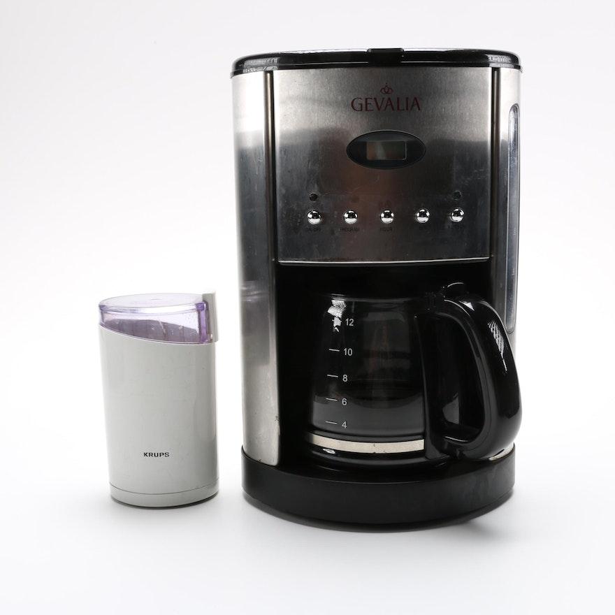 Gevalia Coffee Maker And Krups Mill