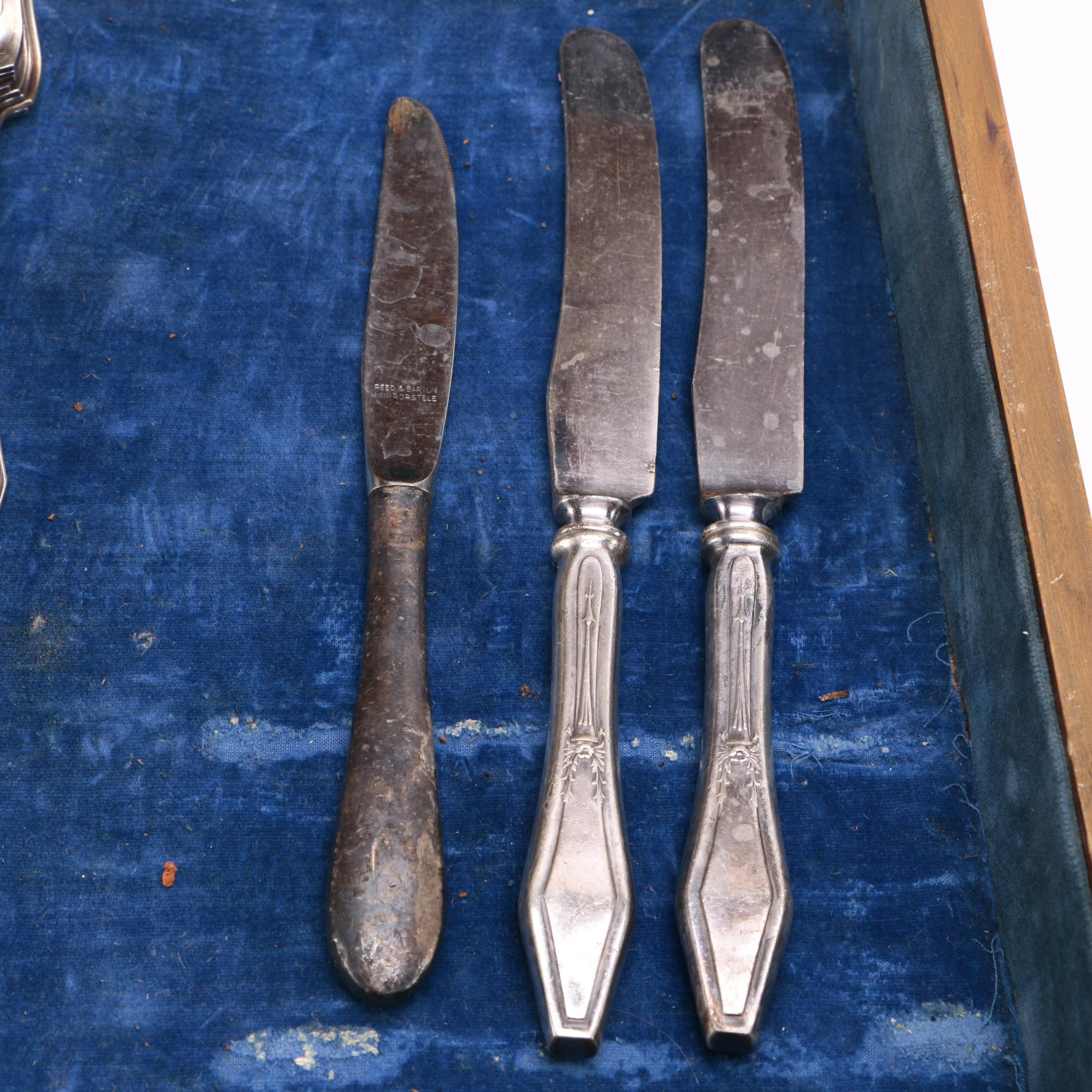 Collection Of Silver Plate Flatware Including Wm Rogers