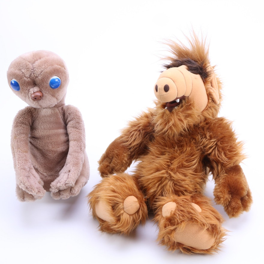 """1980s """"ALF"""" And """"ET"""" Stuffed Toys"""