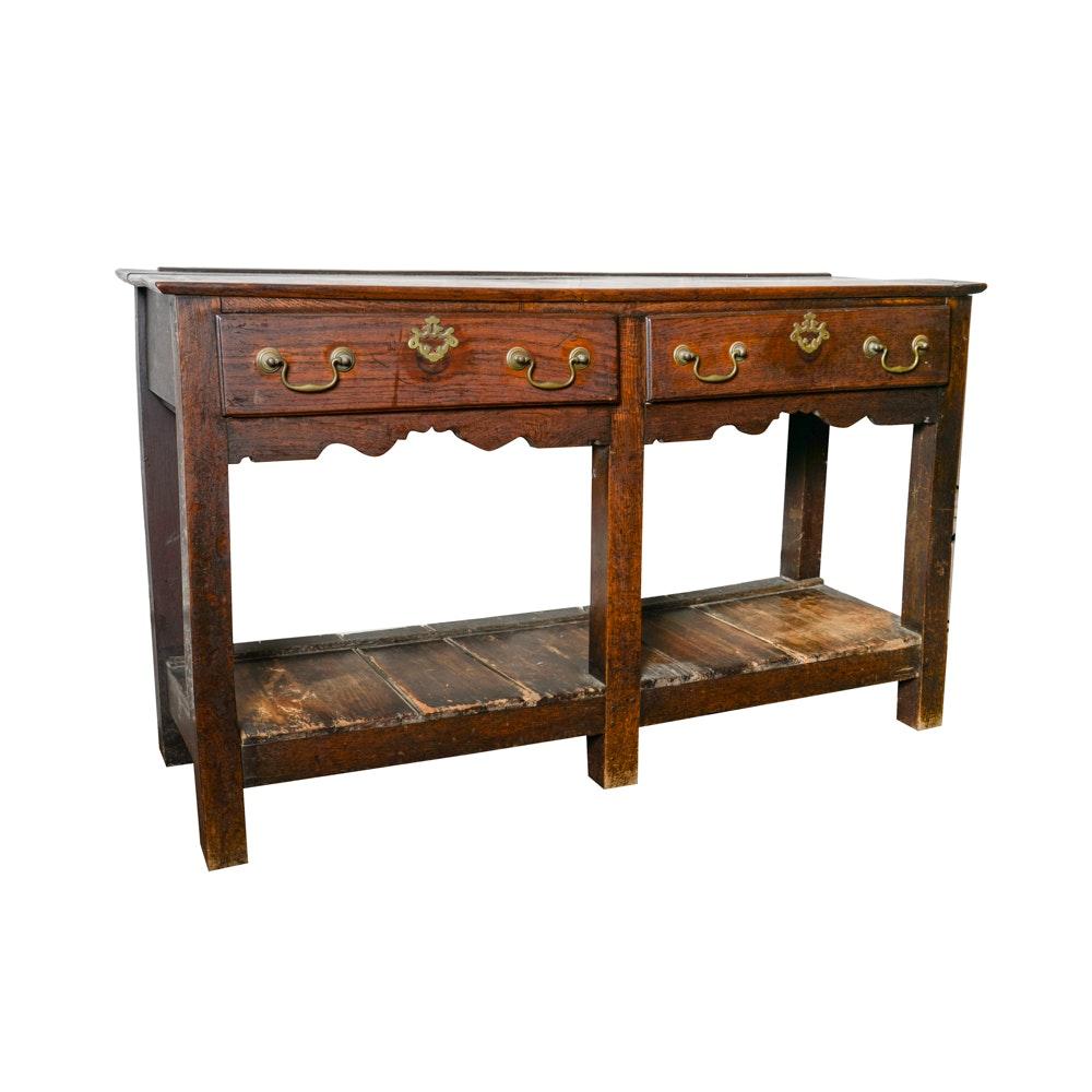 Antique Oak Welsh Dresser Base