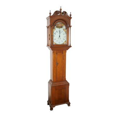 19th c. Pennsylvania Tall Case Clock Attrib. to Benjamin Solliday