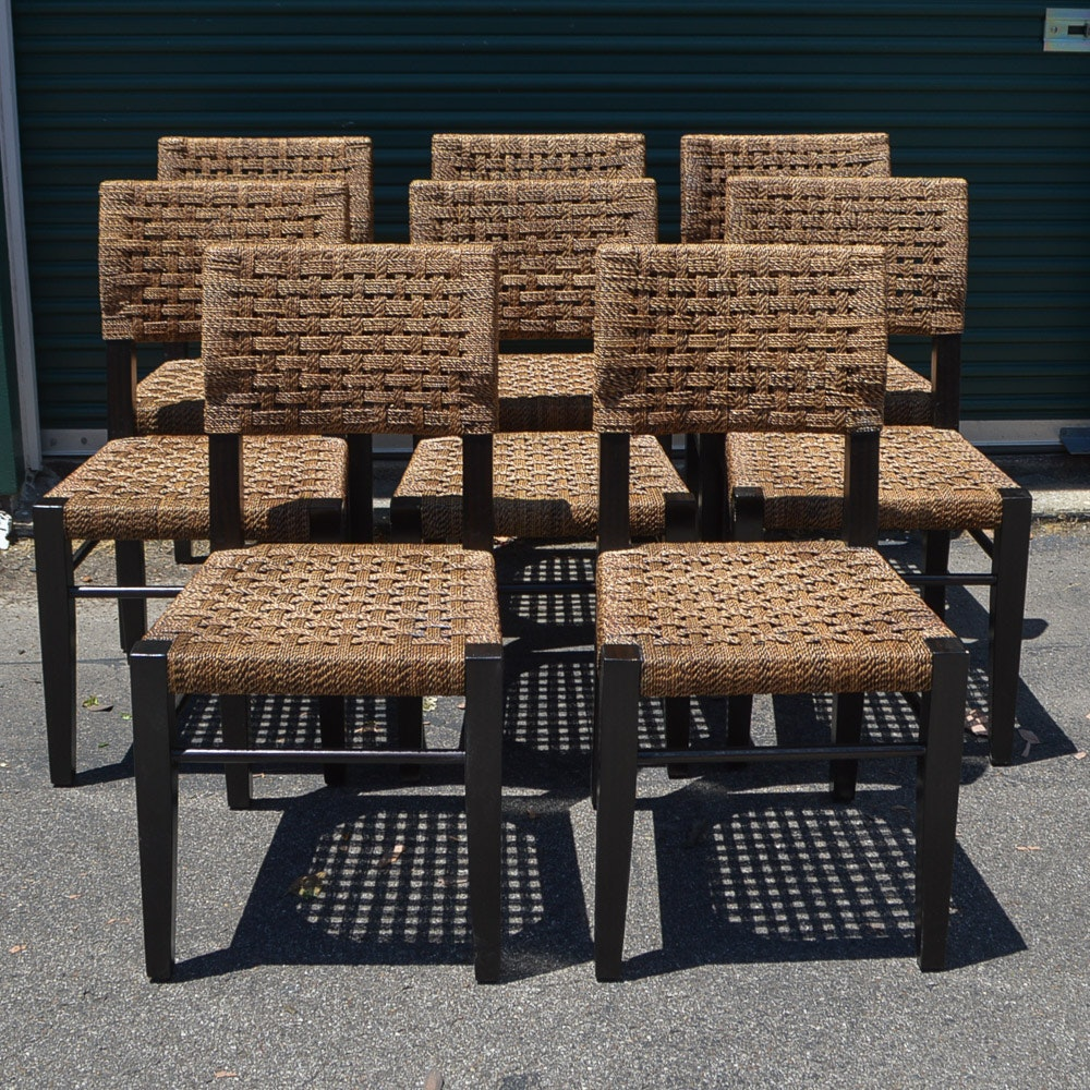 Set of Woven Side Chairs by Palecek