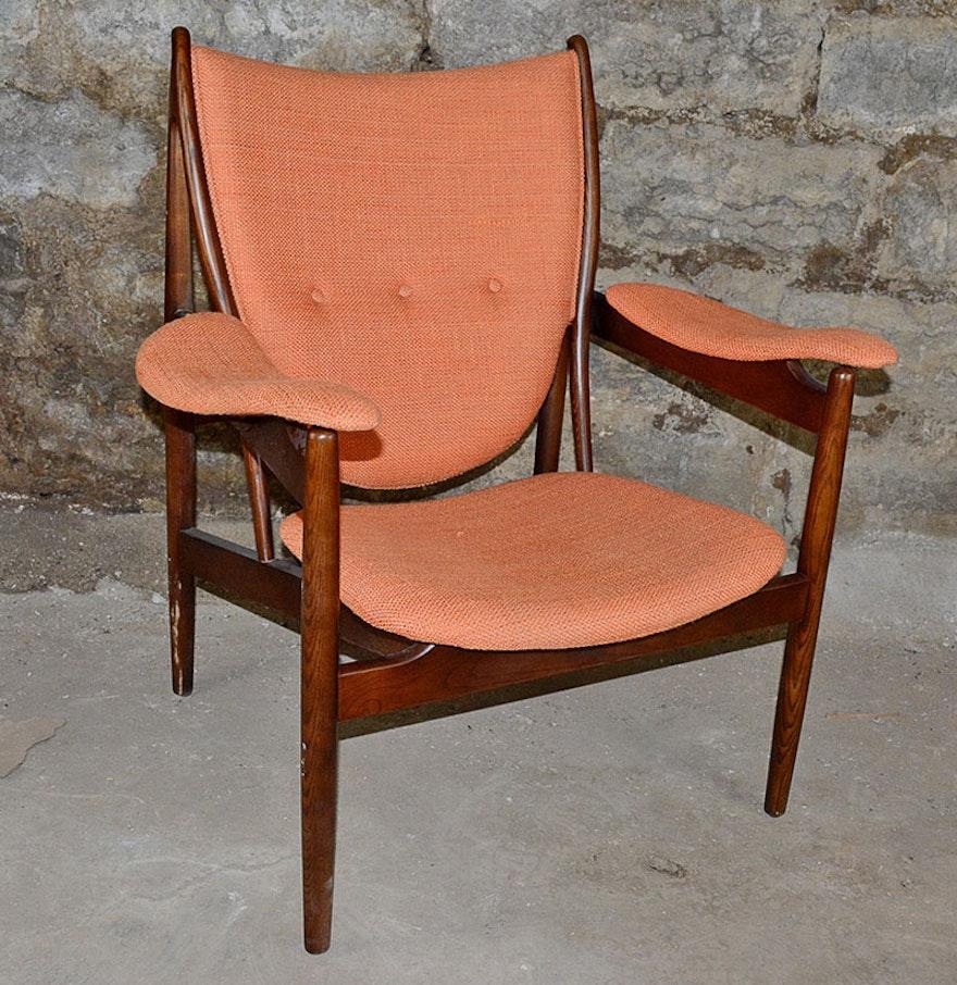 Danish Modern Style Arm Chair Ebth