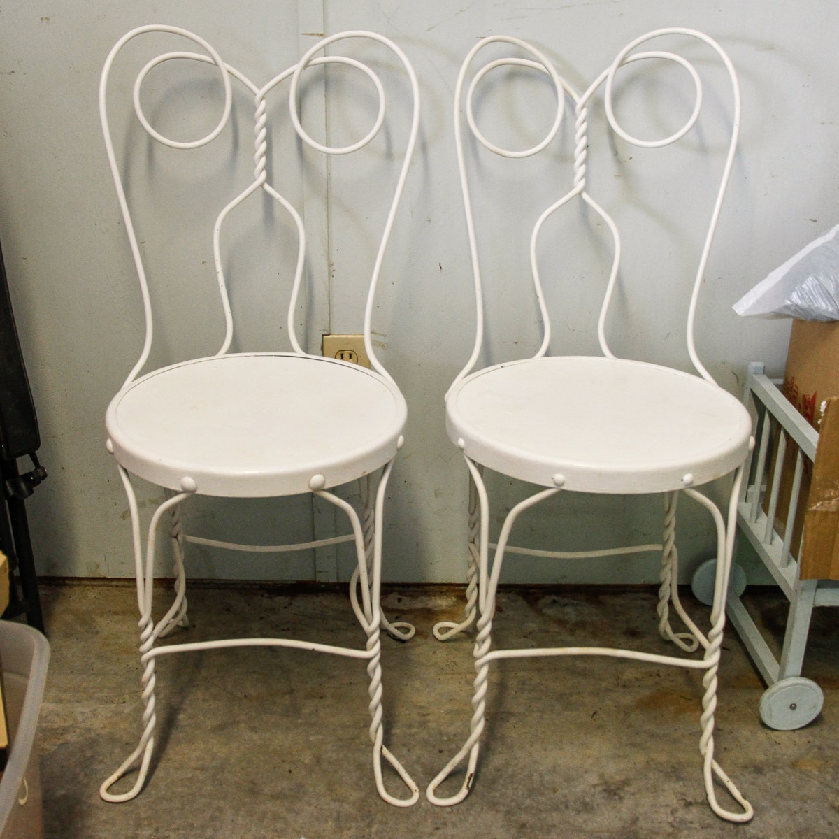 Vintage Ice Cream Parlor Chairs ...