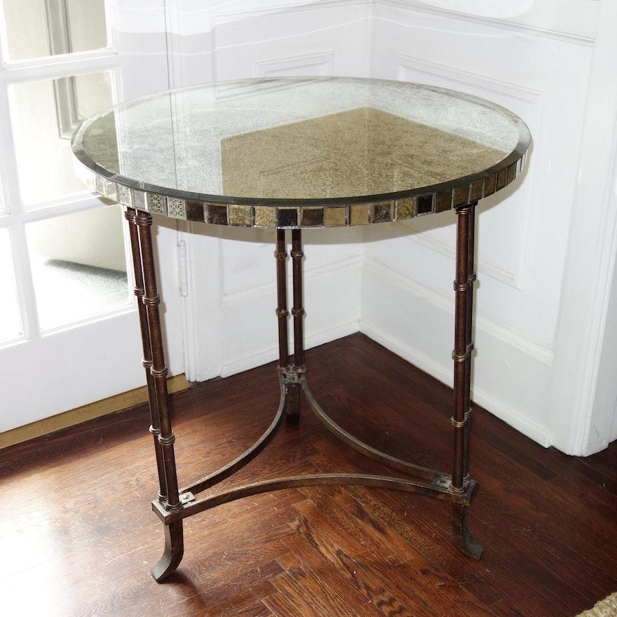 Wisteria Venetian Bamboo Leg Table Ebth