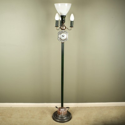 Antique floor lamps table lamps and light fixtures for Antique floor lamp with clock