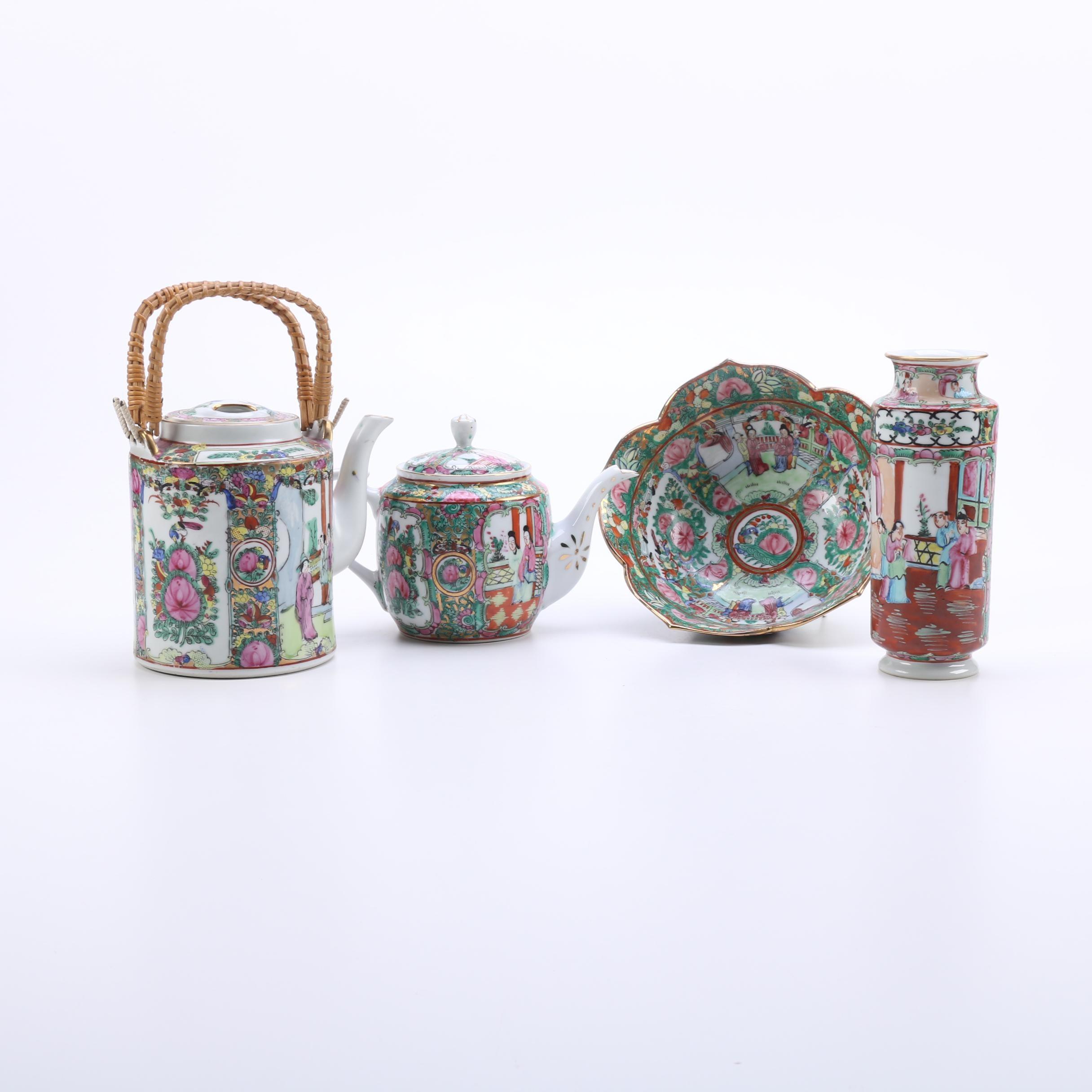 Rose Medallion Porcelain Tableware