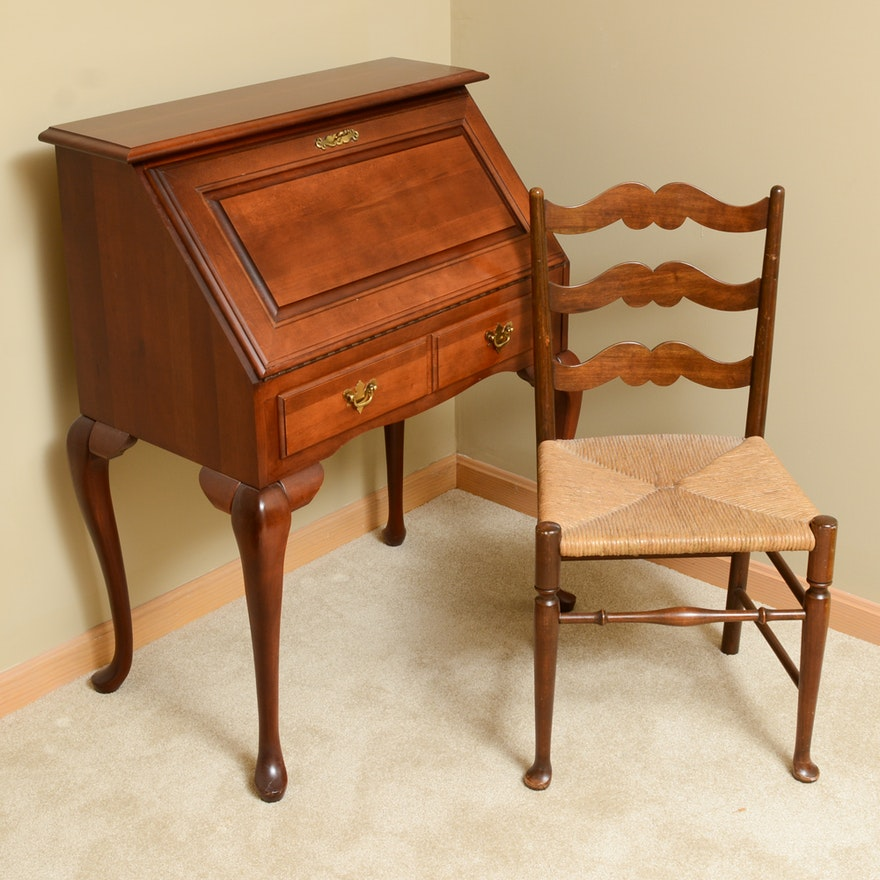 Broyhill Secretary Desk And Chair