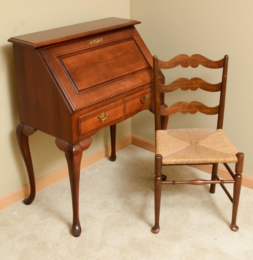 Broyhill Secretary Desk And Chair