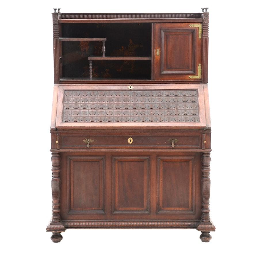 Antique Chinoiserie Slant-Front Desk ... - Antique Chinoiserie Slant-Front Desk : EBTH