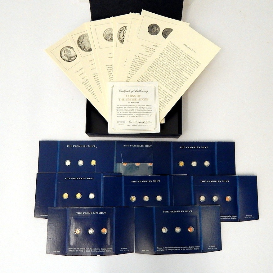 coins of the united states in miniature franklin mint