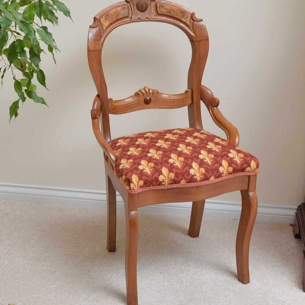 Antique Victorian Balloon Back Side Chair