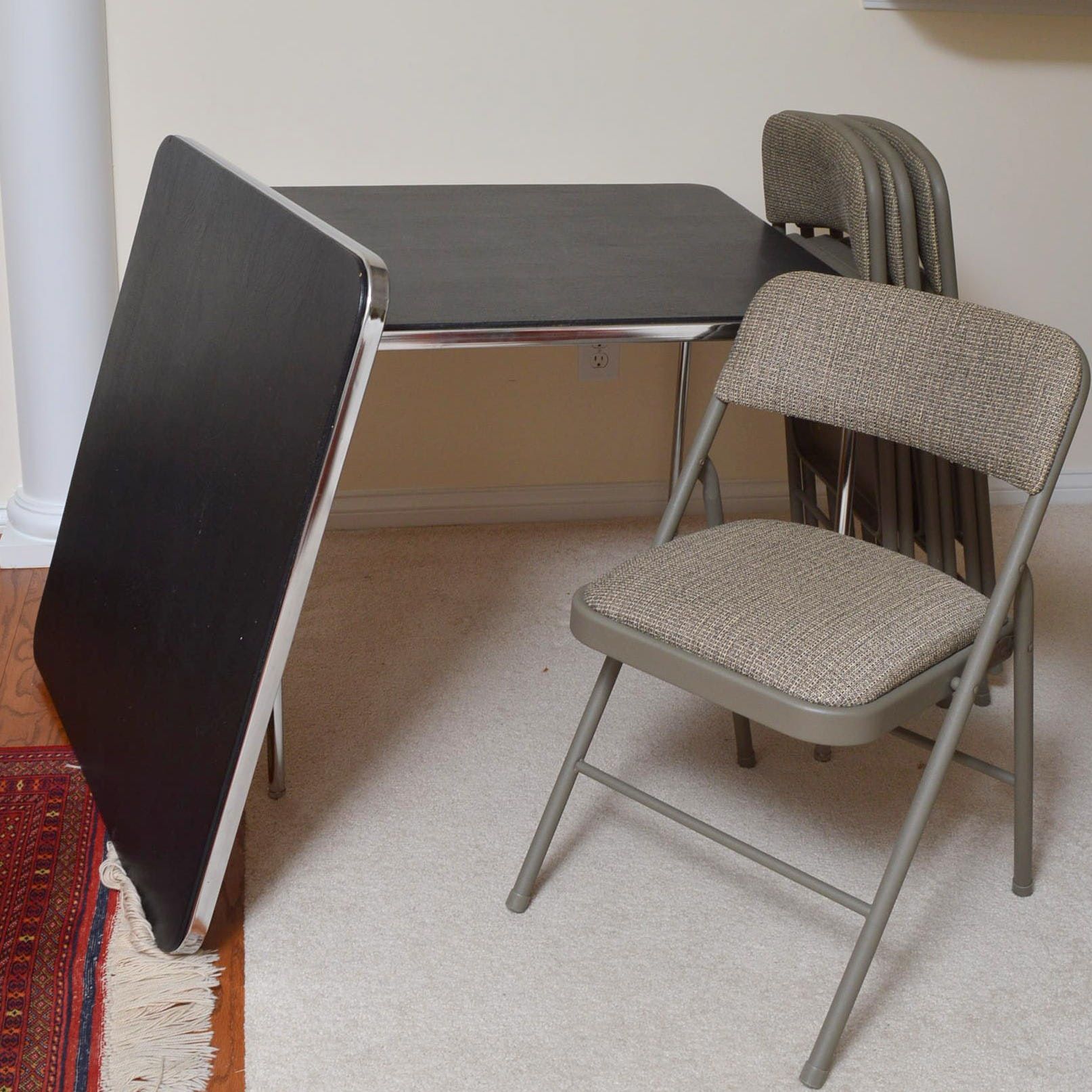 Pair of Folding Tables and Chairs by Samsonite