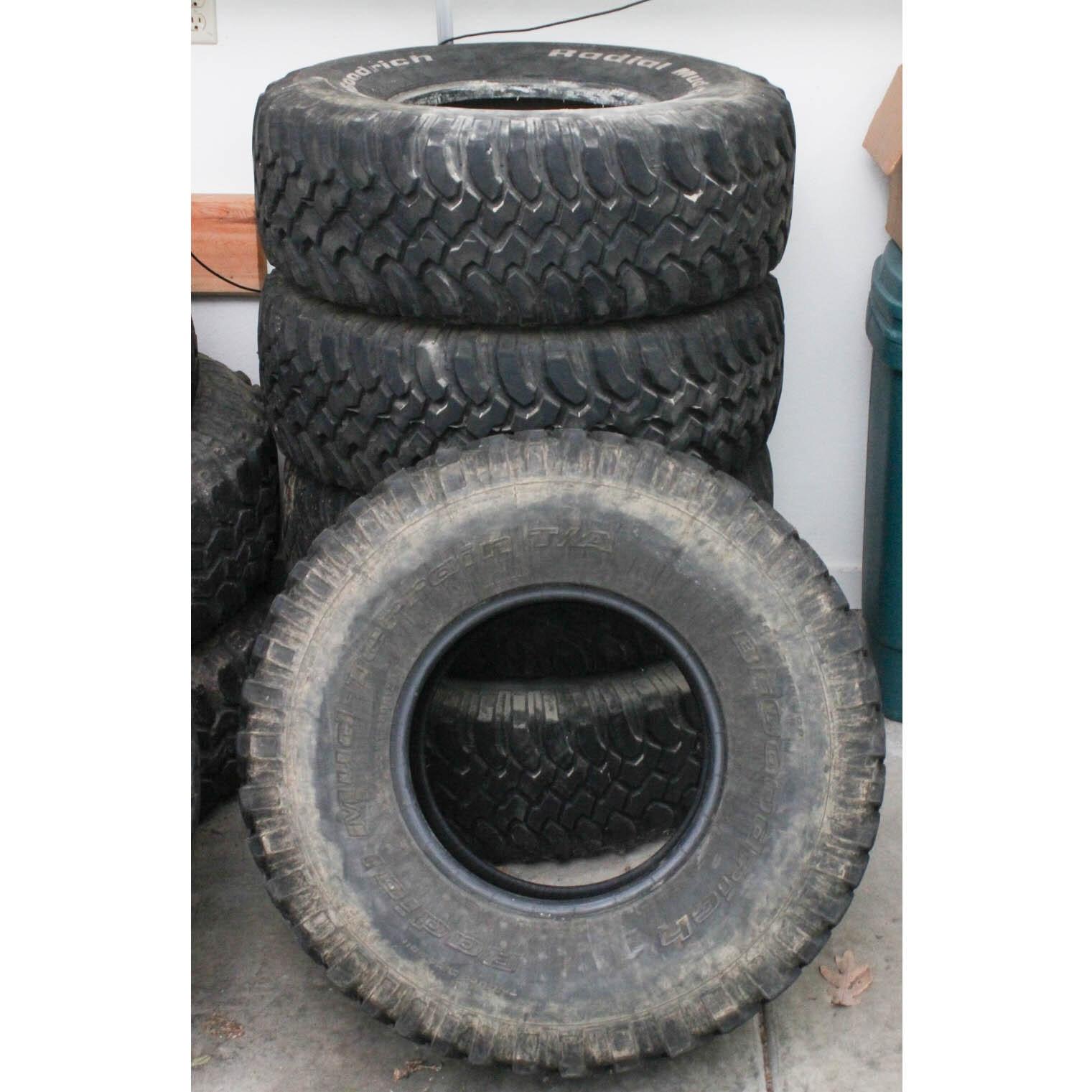 Five BFGoodrich Radial Mud-Terrain Tires