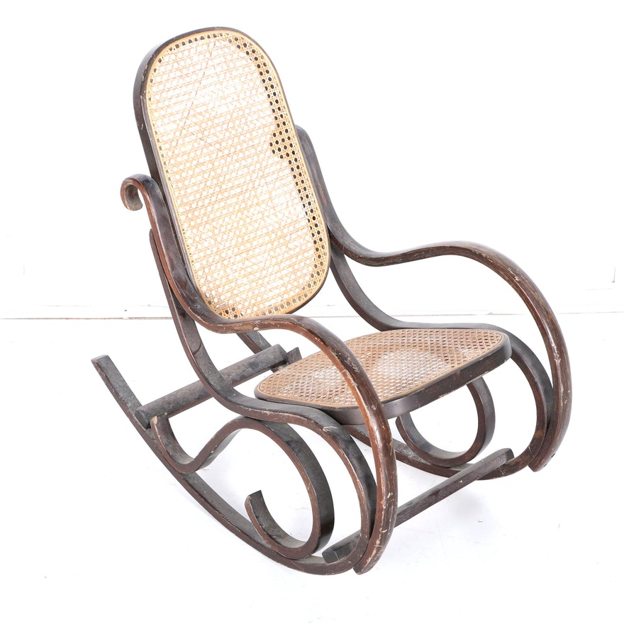 Wondrous Vintage Childs Thonet Style Rocking Chair Machost Co Dining Chair Design Ideas Machostcouk