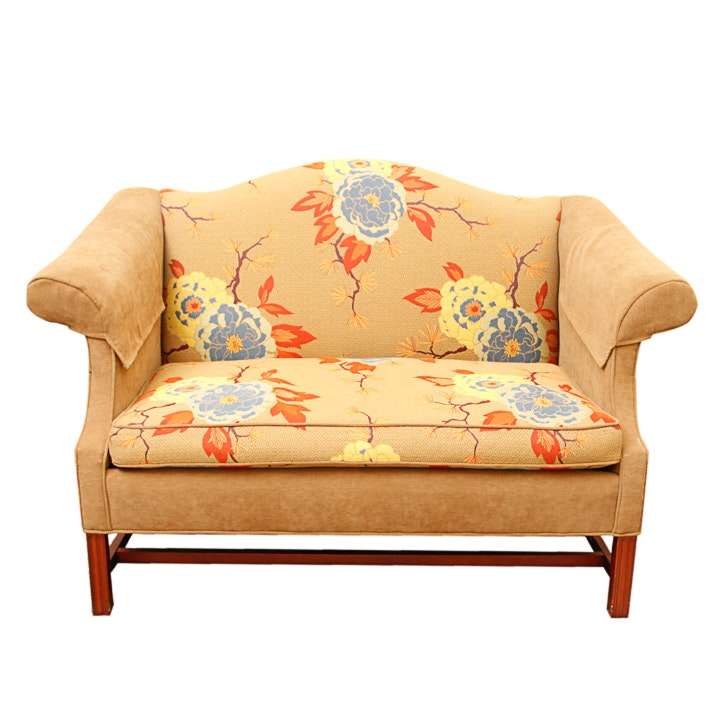Upholstered Camelback Loveseat By Pennsylvania House ...