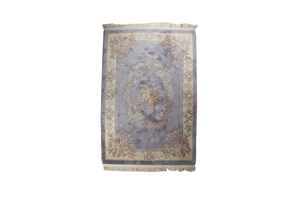 Chinese Inspired Hand Tufted Area Rug