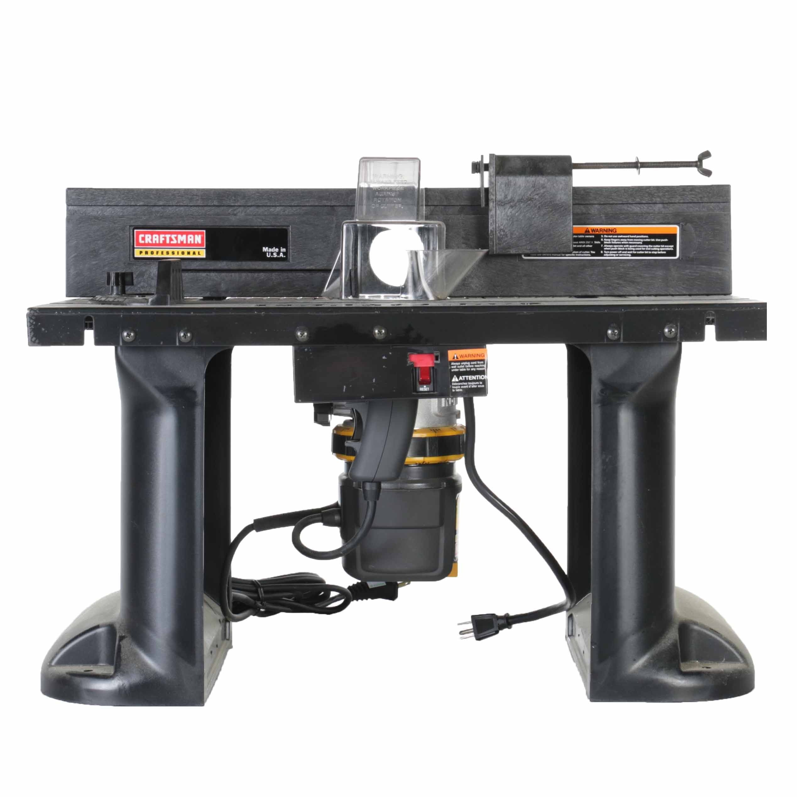 craftsman professional benchtop router table : ebth