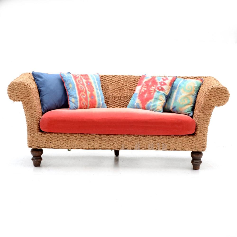 Woven Seagrass Sofa; 1x1 ...