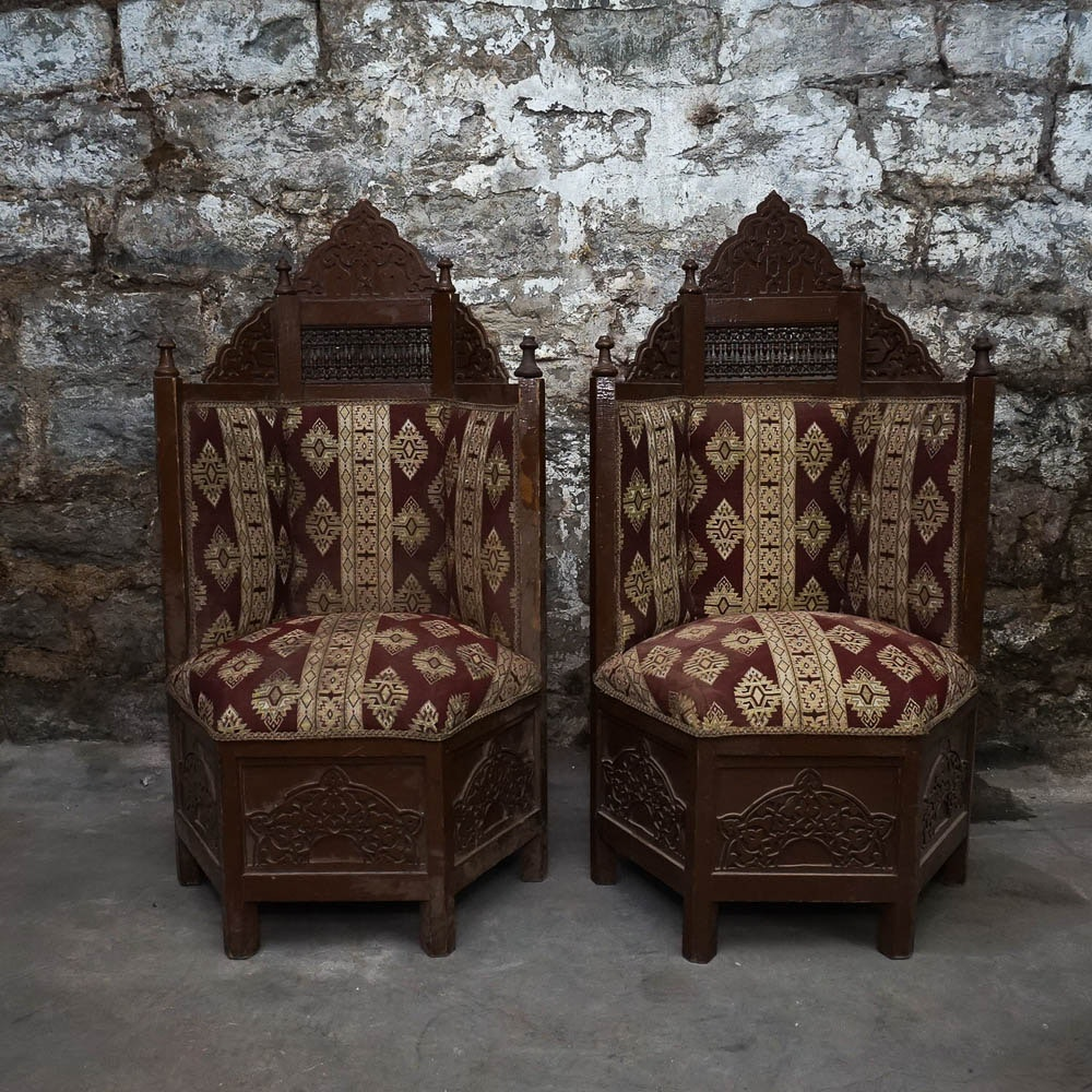 Pair Of Vintage Gothic Style Chairs ...