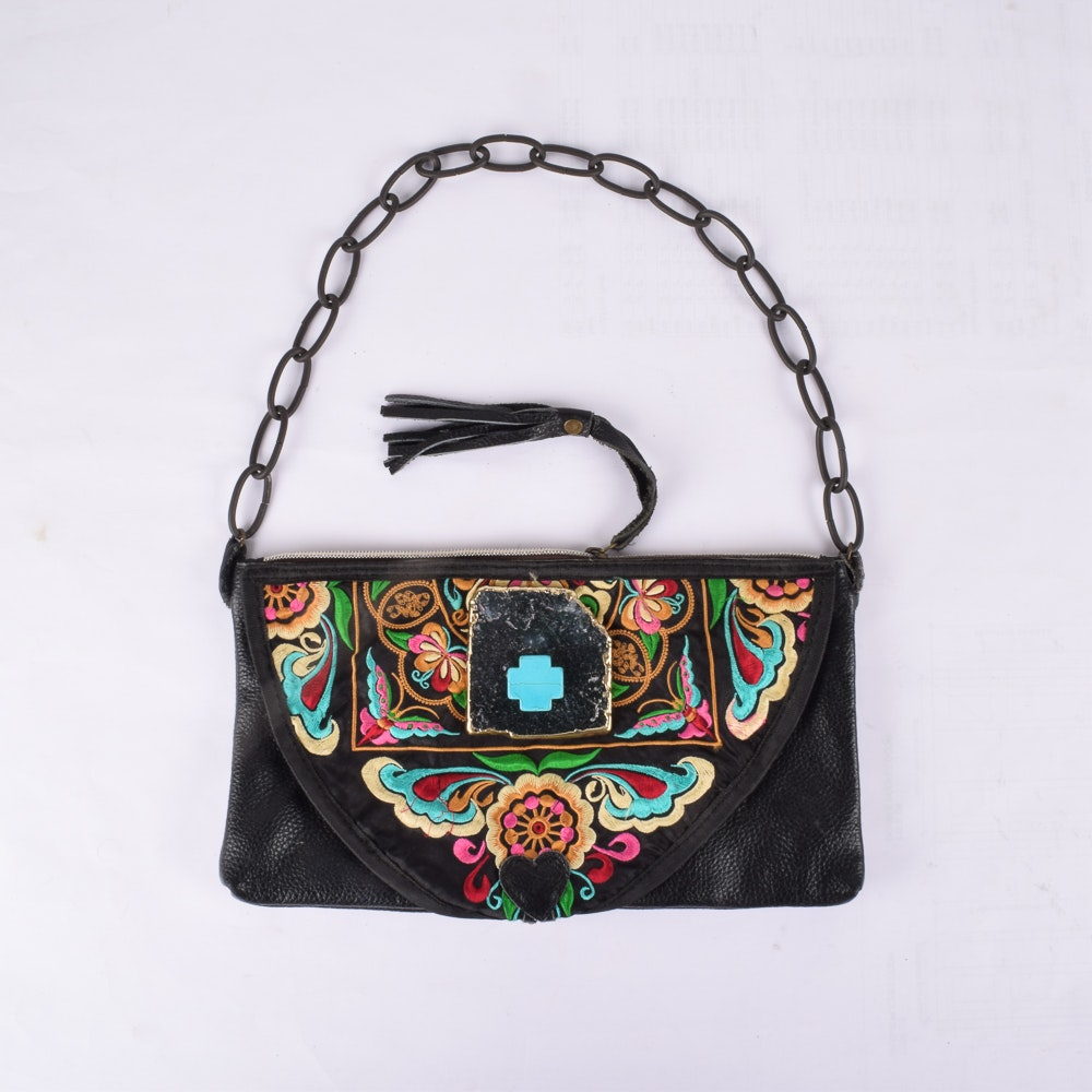 Pam McMahon Couture Steampunk Leather Handbag