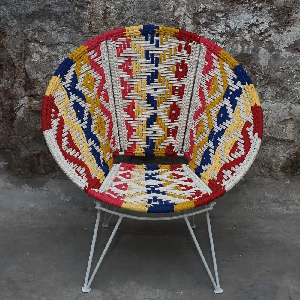 Boho Style Woven Papasan Chair ...