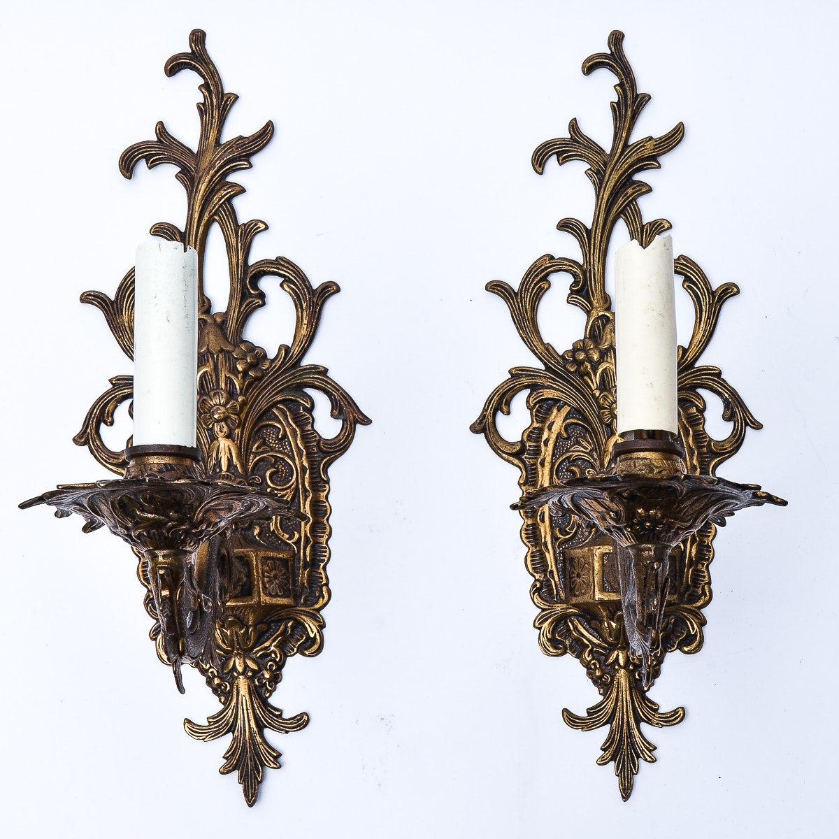 Pair of Vintage Electric Wall Sconces