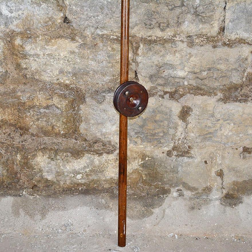 Antique Wooden Deep Sea Fishing Rod