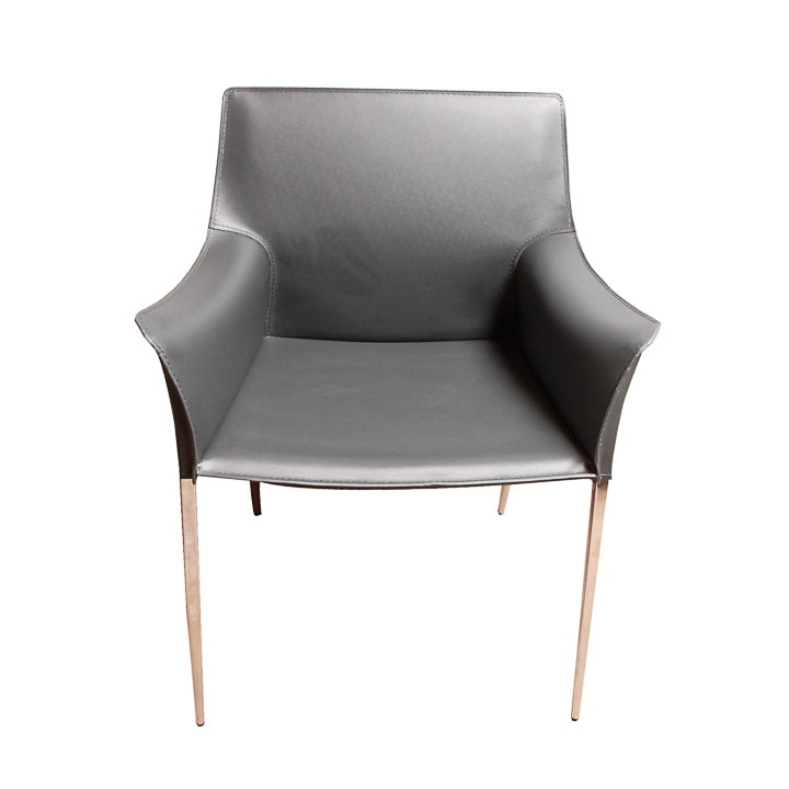 "Nuevo Living ""Colter"" Modern Leather Armchair"