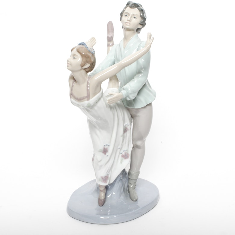 Vintage nao by lladro dancing on a cloud figurine ebth - Consider including lladro porcelain figurines home decoration ...