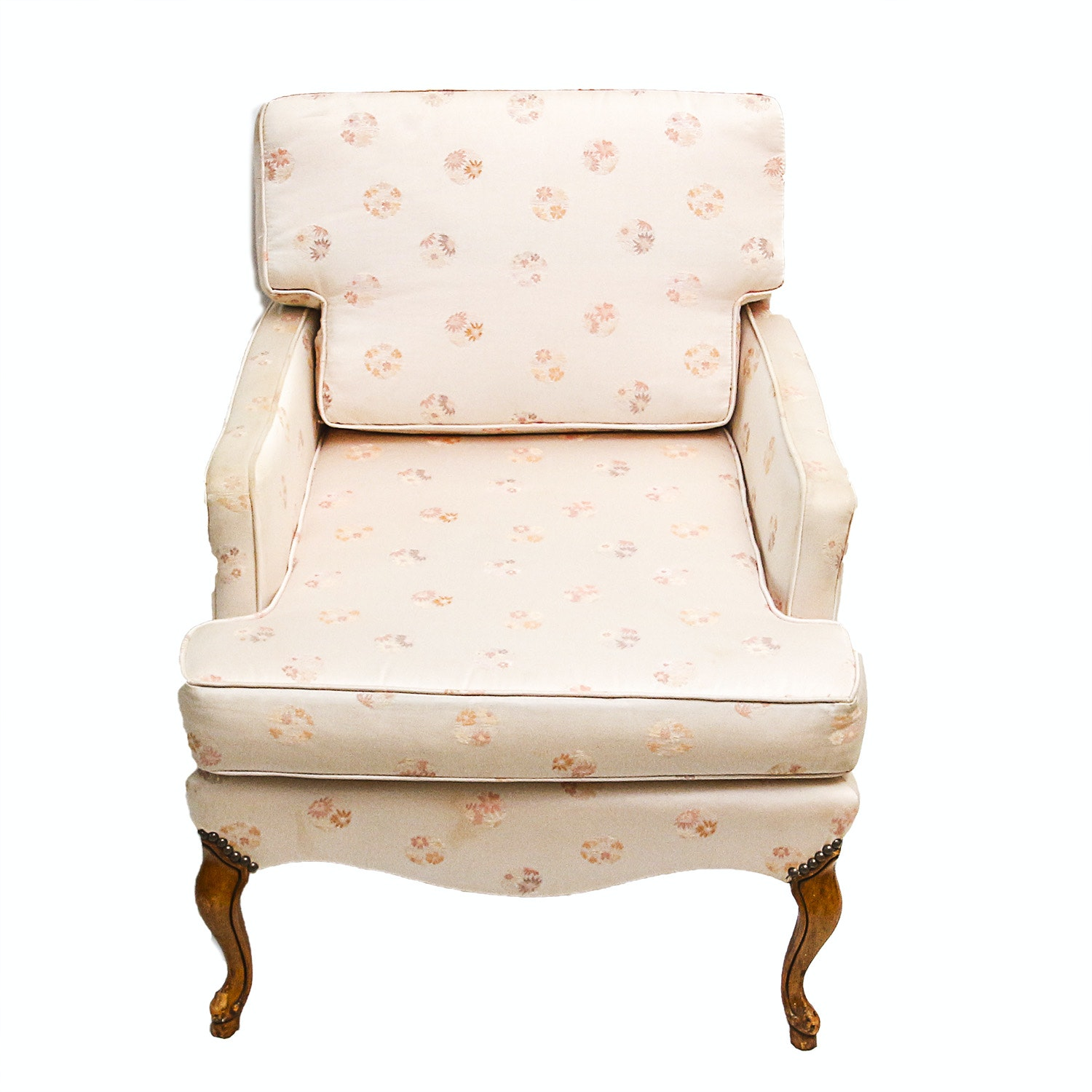 Blush Pink Silk Upholstered Chair ...