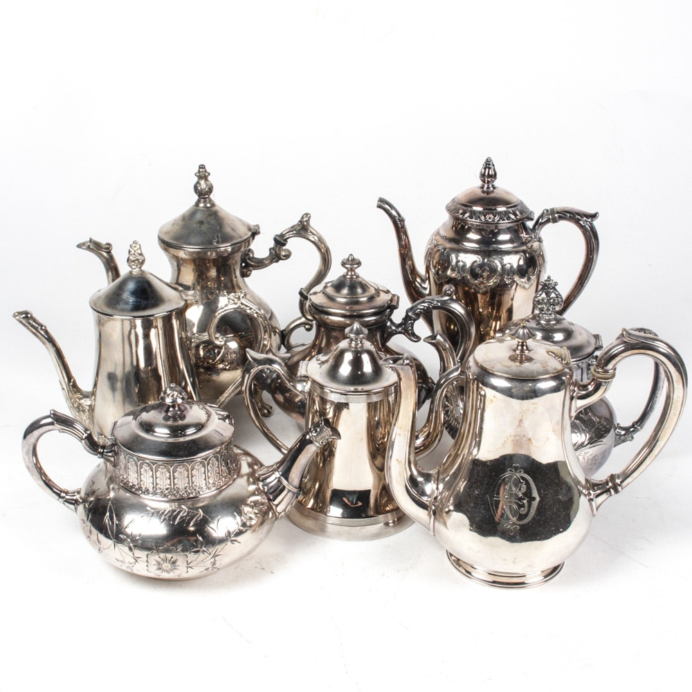 Vintage Silver Plate Teapots and Coffee Pots ...  sc 1 st  EBTH.com & Vintage Silver Plate Teapots and Coffee Pots : EBTH
