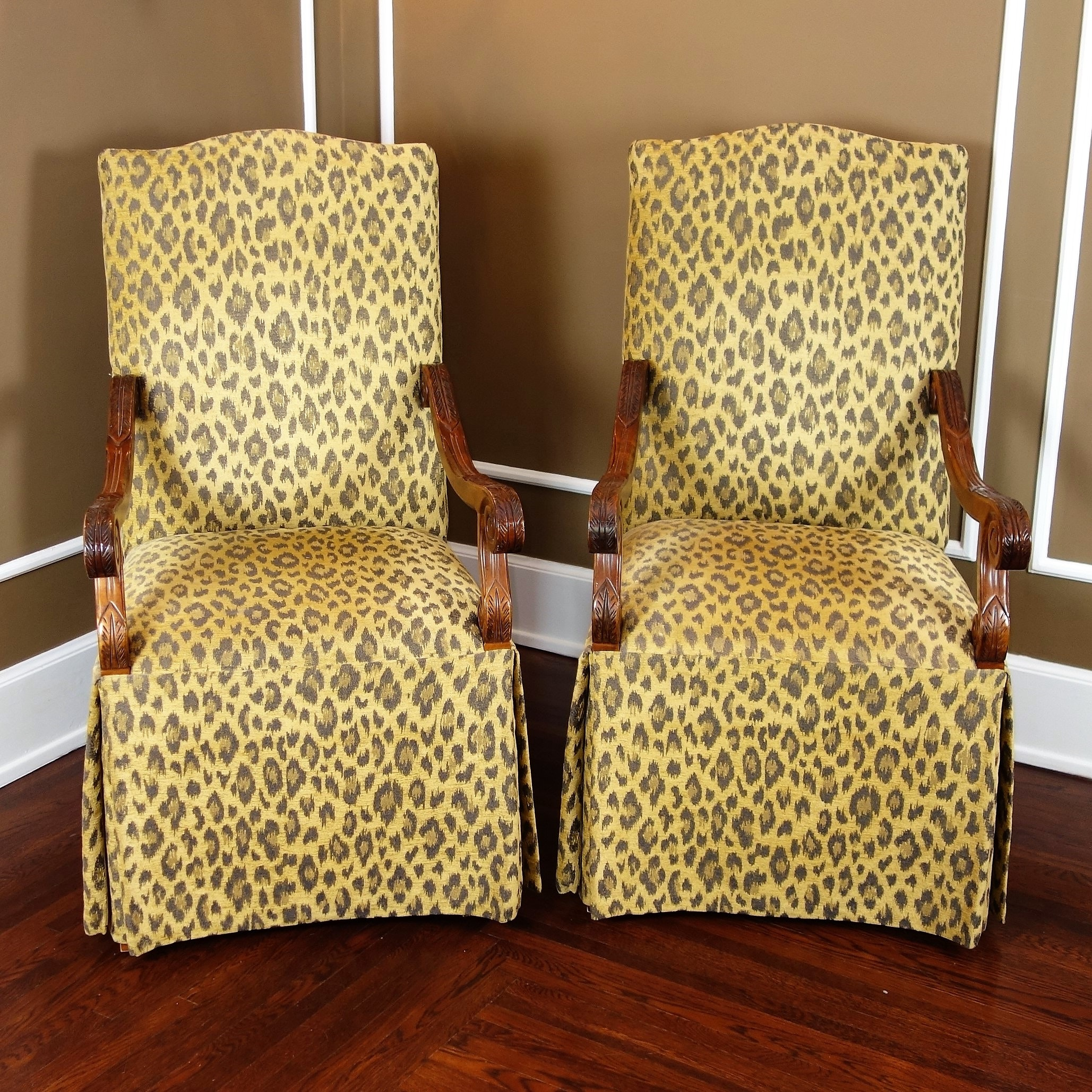 Leopard Print Chairs by Century Furniture