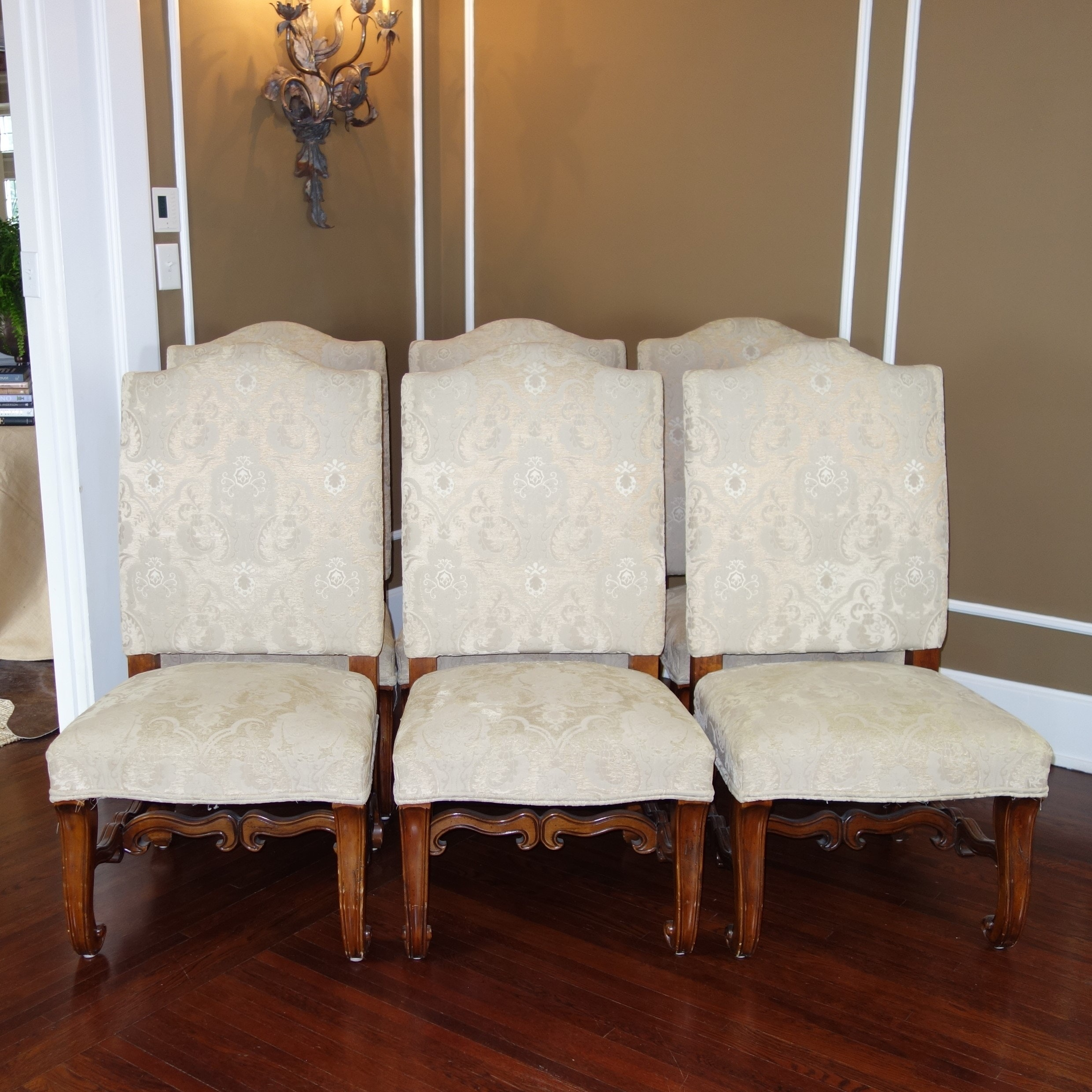 Charming Six French Style Dining Side Chairs By Touchstone Collections ...