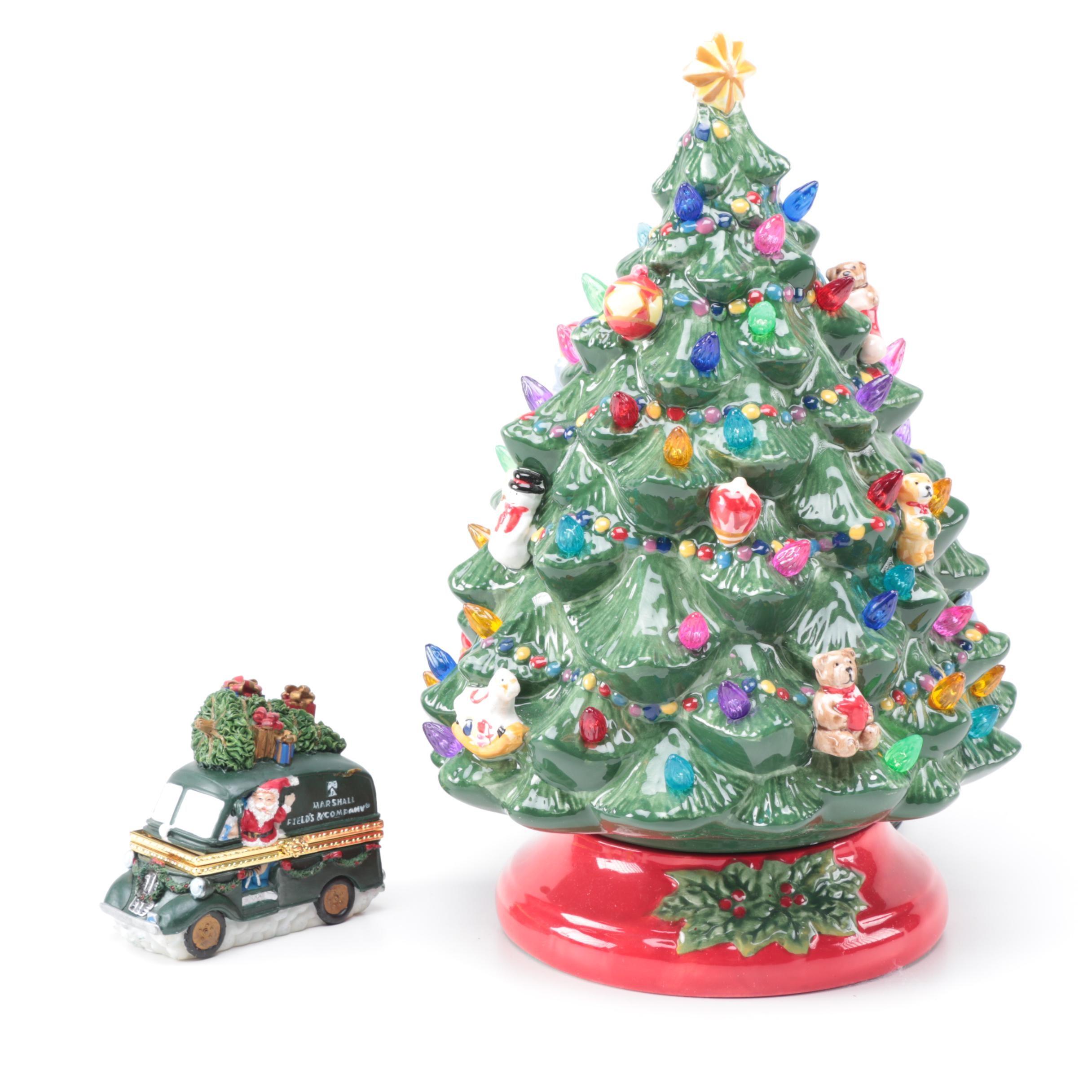 Ceramic Christmas Tree Pegs