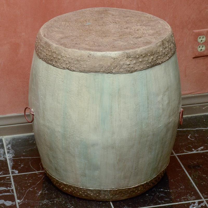Barrel Shaped End Table ...